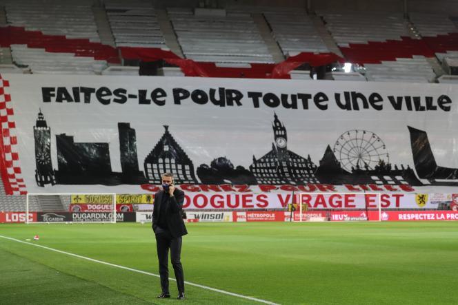 Olivier Létang, président du LOSC, au stade Pierre-Mauroy, le 16 mai 2021.