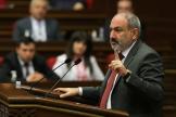 Le premier ministre arménien, Nikol Pachinian, le 10 mai 2021 à Erevan.