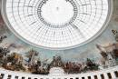 A picture taken on May 12, 2021 shows a view of the dome at the Bourse de Commerce-Pinault Collection, which houses French billionaire Francois Pinault's private art collection in Paris. The Bourse de Commerce historic building in the centre of the French capital has been turned into a museum to show the 1.4-billion-dollar (1.2-billion-euro) collection of modern masters of Pinault, the luxury goods mogul who also owns the auction house Christie's. - RESTRICTED TO EDITORIAL USE - MANDATORY MENTION OF THE ARTIST UPON PUBLICATION - TO ILLUSTRATE THE EVENT AS SPECIFIED IN THE CAPTION / AFP / Martin BUREAU / RESTRICTED TO EDITORIAL USE - MANDATORY MENTION OF THE ARTIST UPON PUBLICATION - TO ILLUSTRATE THE EVENT AS SPECIFIED IN THE CAPTION