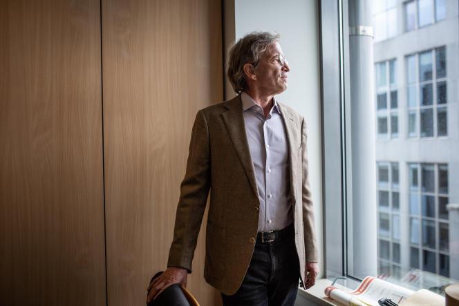 Fabrice Fries, président-directeur général de l'Agence France-Presse, dans les bureaux de l'AFP à Bruxelles, le 17 mai 2021.