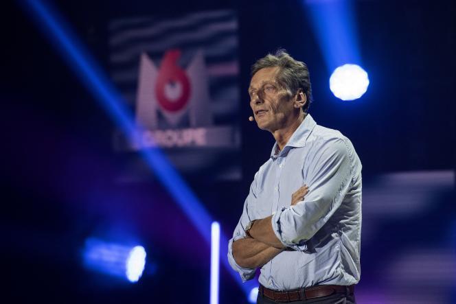 Nicolas de Tavernost, PDG de M6, s'apprête à devenir le patron du géant qui devrait naître de la fusion de M6 et de TF1. Icià Neuilly-sur-Seine (Hauts-de-Seine), le 4 septembre 2018.