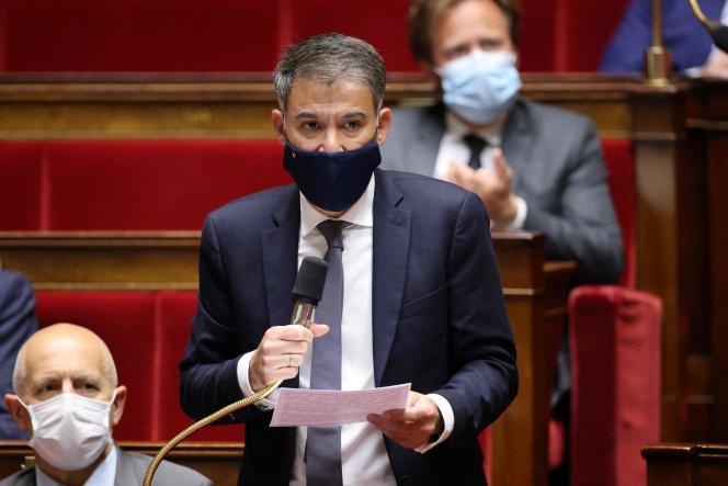 Le premier secrétaire du Parti socialiste (PS), Olivier Faure, à l'Assemblée nationale, le 18mai.