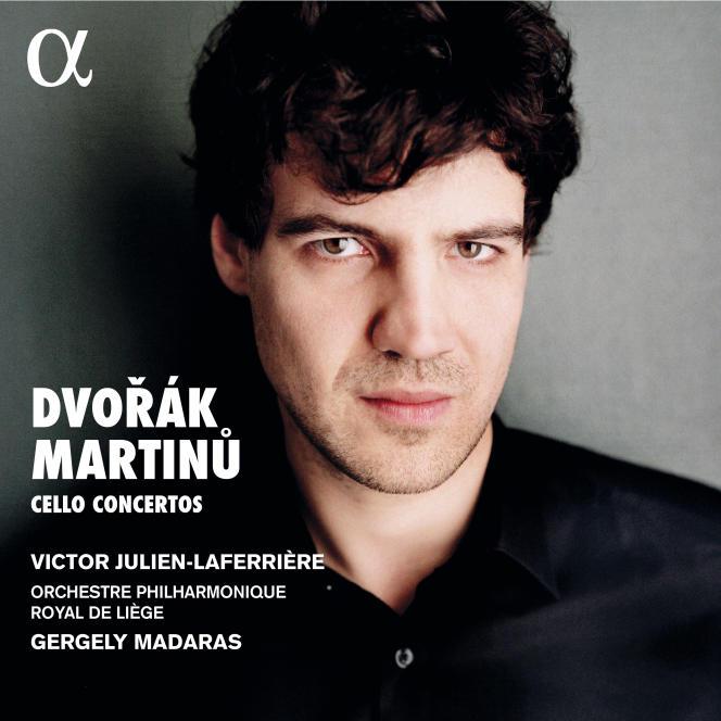 Pochette de l'album «Dvorak – Martinu, concertos pour violoncelle» , parVictor Julien-Laferrière (violoncelle), Orchestre philharmonique royal de Liège, Gergely Madaras (direction).