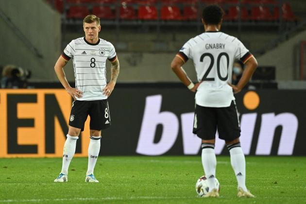 Toni Kroos, lors du match de Ligue des nations contre la Suisse, le 13 octobre 2020, à Cologne.
