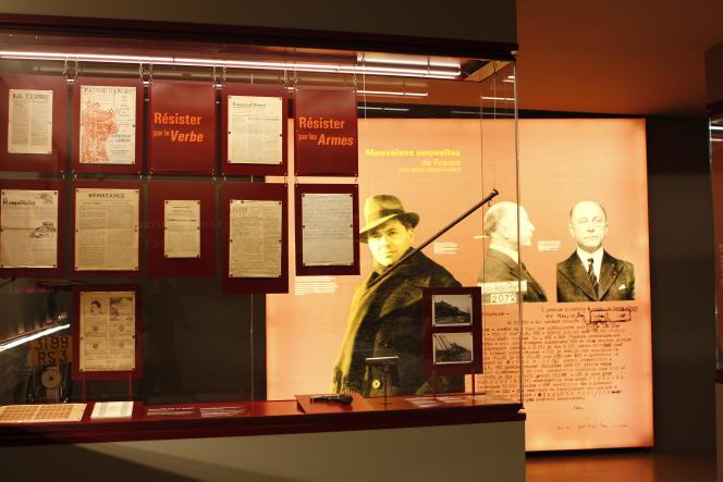 Vue de la salle «Nouveaux horizons, automne 1942-automne 1943» au Musée de la Résistance nationale à Champigny-sur-Marne.