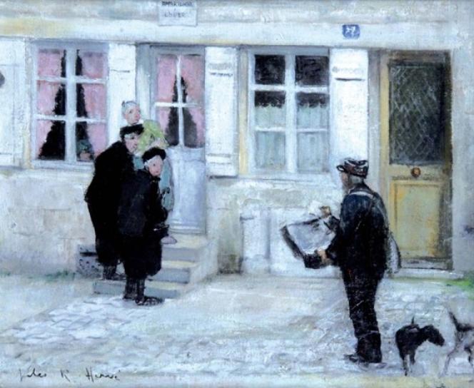 « Langres, le facteur», de Jules-René Hervé (1887-1981), huile sur toile, acquisition de la SAMP pour le Musée de La Poste.