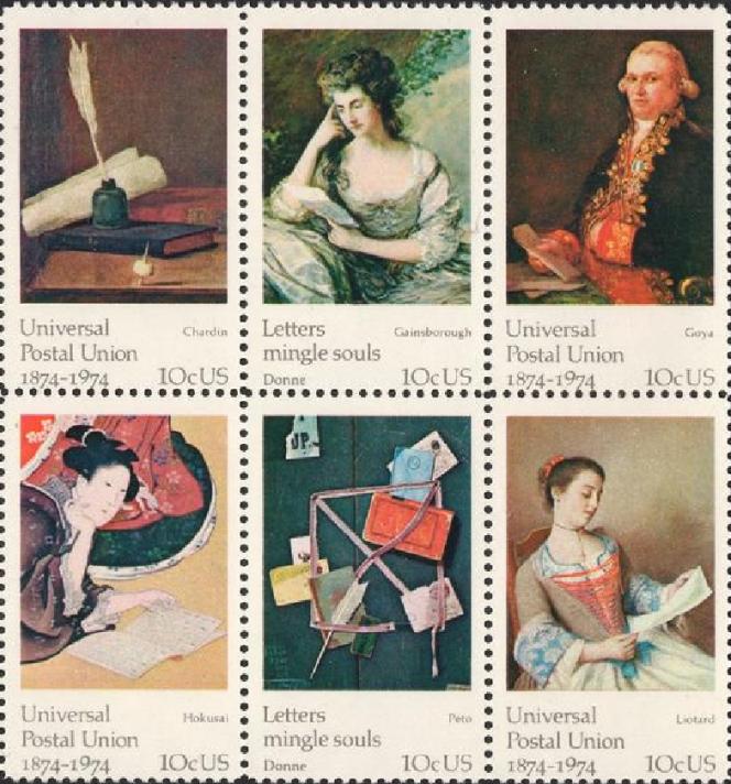 Timbres et tableaux sur la mise en scène de l'écriture d'une lettre (1974).