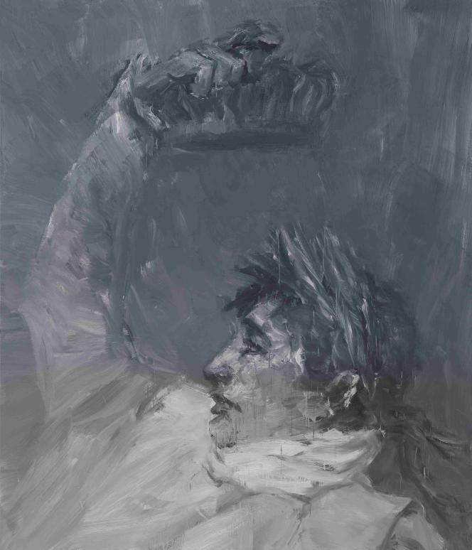 Yan Pei-Ming,«L'Empereur Napoléon Ier se couronnant lui-même (gris)»[«Napoleon, Crowning Himself Emperor – Grey»]».