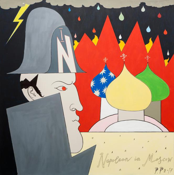 Pavel Pepperstein, «Napoléon à Moscou»[«Наполеон в Москве»], 2017.