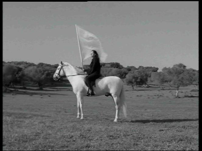 Marina Abramović : extrait de l'œuvre «Le Héros» [«The Hero»], 2001, vidéo avec son, 17 minutes, collection de l'artiste.