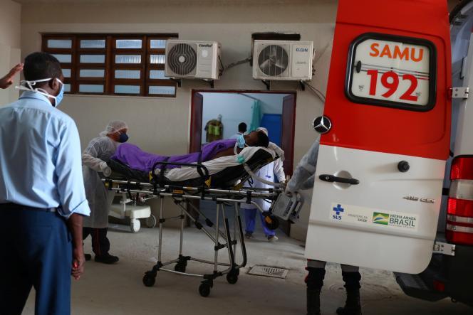 A l'UPA (unité des services d'urgence) à Duque de Caxias, près de Rio de Janeiro, au Brésil, le 20mai 2021.