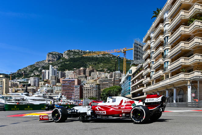 Kimi Raikkonen (Alfa Romeo) during testing for the Monaco Grand Prix, May 20, 2021.