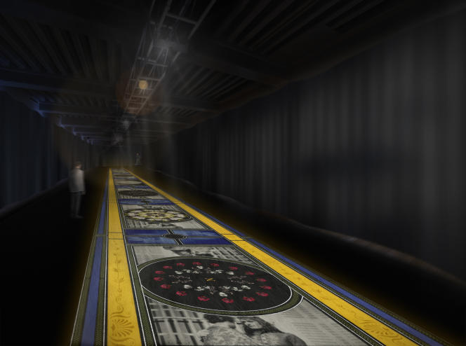 La Méduse : projet pour Napoléon Remix, 2021, installation vidéo, conçu par Christian Janicot, animé par Edoardo Cecchin, produit par Anne Jaffrennou et Charles Seguin.