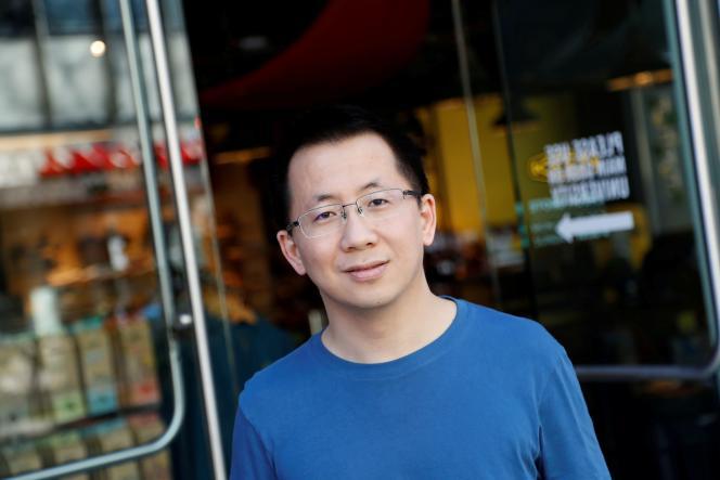 Zhang Yiming, fondateur et PDG de ByteDance, à Palo Alto (Californie, États-Unis), le 4 mars 2020.