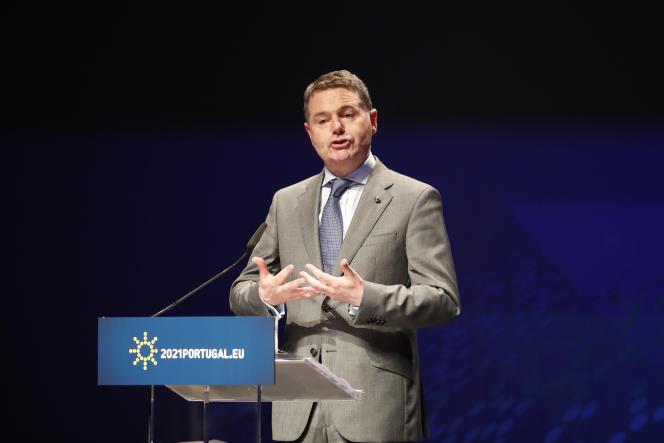 Le ministre des finances irlandais, Paschal Donohoe, à Lisbonne, vendredi21mai.