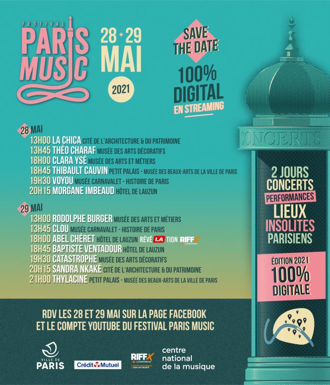 Affiche du Festival Paris Music.
