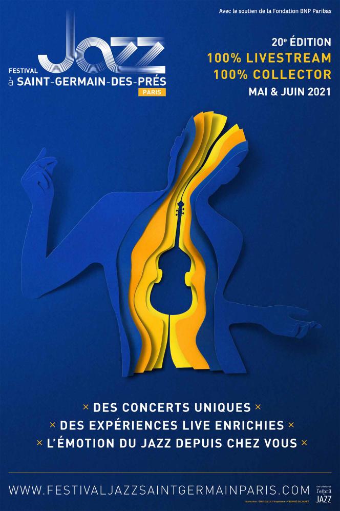 Affiche du festival Jazz à Saint-Germain-des-Prés.
