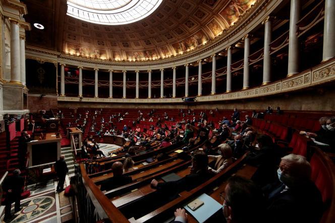 L'Assemblée nationale, à Paris, le 4 mai 2021.