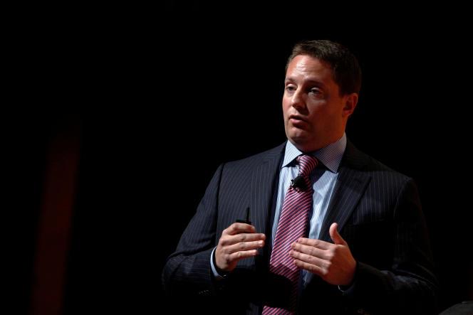 Carson Block, le gérant du fonds spéculatif new-yorkais Muddy Waters, à New York, le 4 mai 2016.