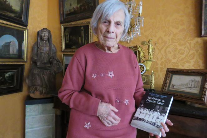 Colette Brull-Ulmann, à Nogent-sur-Marne (Val-de-Marne), le 26 janvier 2018.