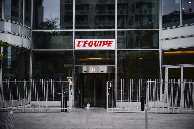 Le siège de «L'Equipe» à Boulogne-Billancourt (Hauts-de-Seine), en 2017.