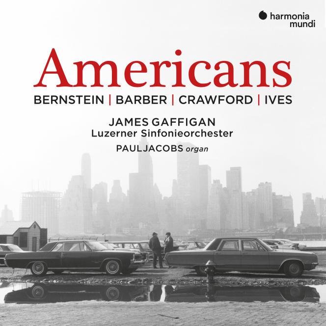 Pochette de l'album « Americans», œuvres de Bernstein, Barber, Crawford et Ives par l'Orchestre symphonique de Lucerne.