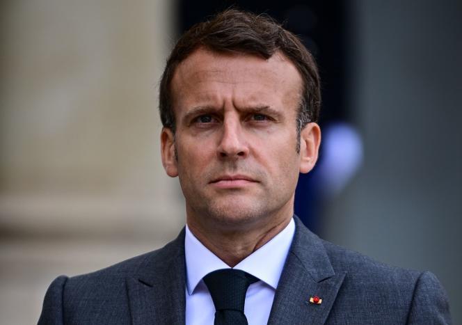 Emmanuel Macron, à l'Elysée, le 21 mai 2021.