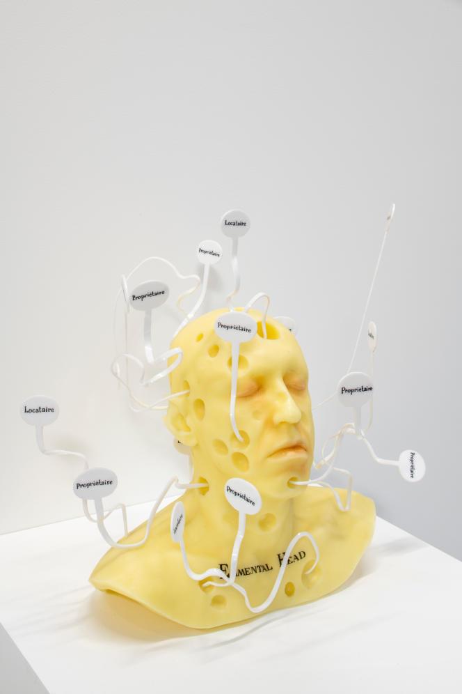 « Emmental Head», 2003, collection privée, Galerie G-P & N Vallois (Paris) – GILLES BARBIER – TRAVAILLER LE DIMANCHE. HAB GALERIE – VOYAGE À NANTES.
