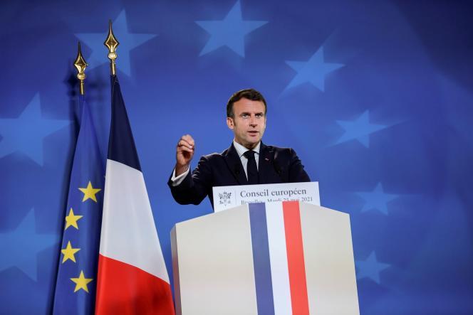 Emmanuel Macron, à Bruxelles, le 25 mai 2021.
