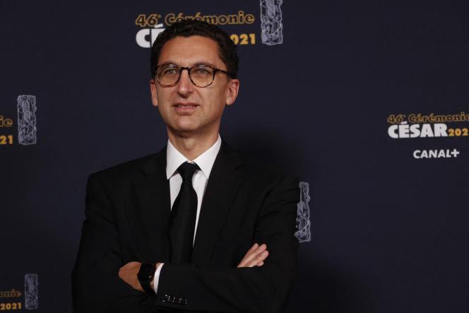 Le président du directoire de Canal+, Maxime Saada, lors de la 46e cérémonie des Césars, à Paris, le 12 mars.