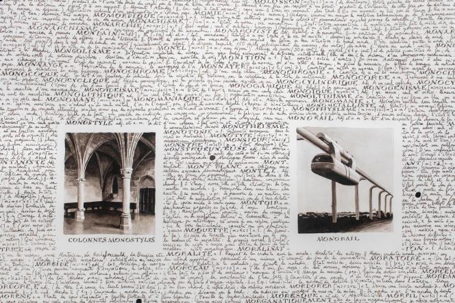 """«De """"Minage"""" à """"Naufragé"""" et son errata [détail]», 2016, Collection privée –GILLES BARBIER – TRAVAILLER LE DIMANCHE. HAB GALERIE – VOYAGE À NANTES."""