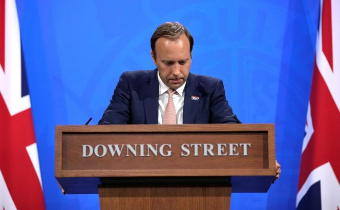 British Health Secretary Matt Hancock held a coronavirus press conference in London on 27 May.