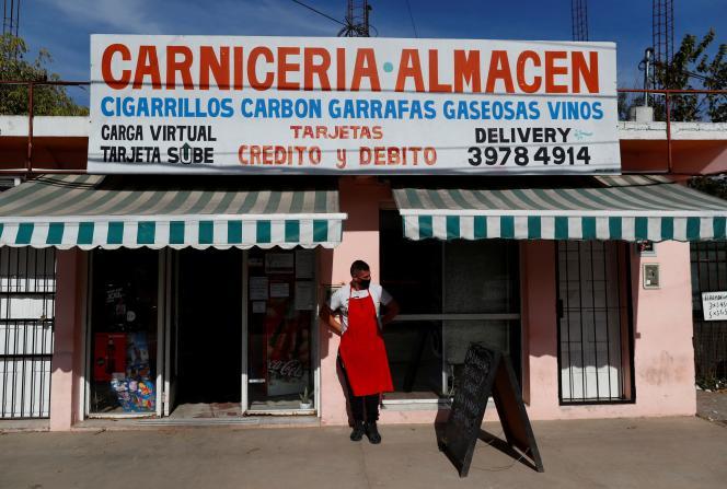 Une boucherie dans la banlieue de Buenos Aires, la capitale argentine, le 19 mai 2021.