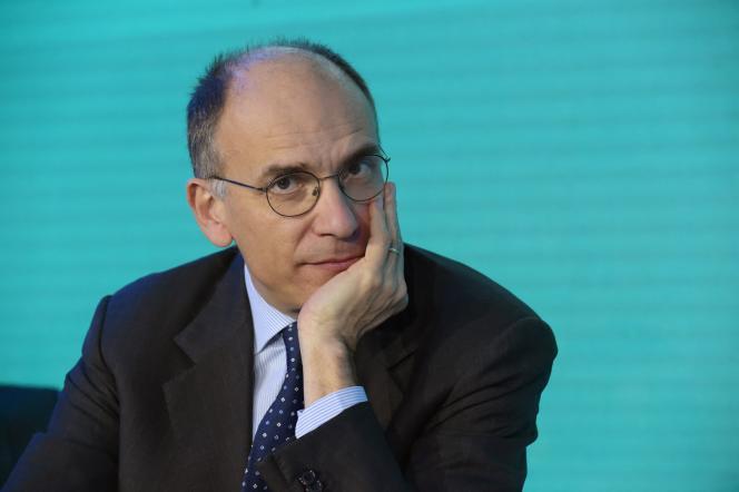 L'ex presidente del Consiglio italiano e nuovo segretario del Pd, Enrico Leta, a Parigi il 14 gennaio 2020.