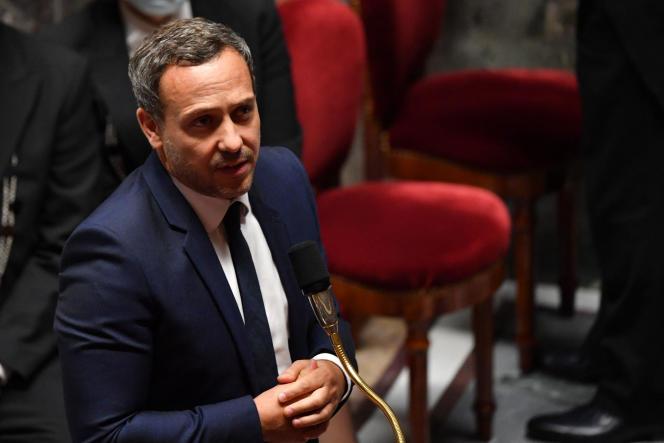 Le secrétaire d'Etat chargé de l'enfance et des familles Adrien Taquet, le 29 septembre 2020 à l'Assemblée nationale.