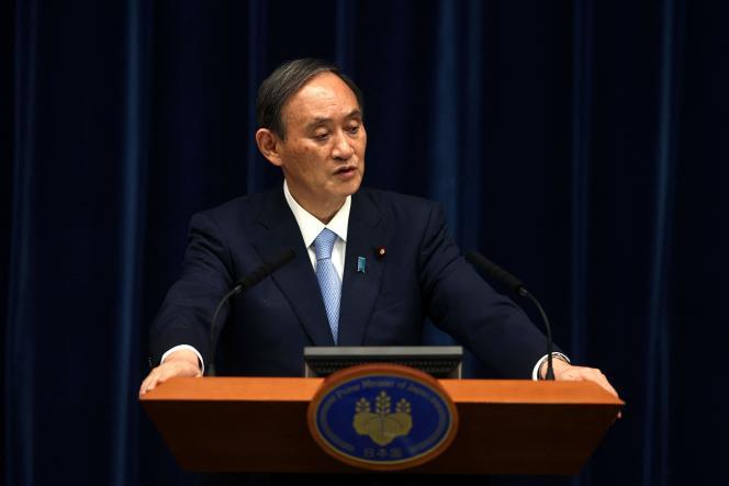 Le premier ministre japonais, Yoshihide Suga, à Tokyo le 28 mai 2021.