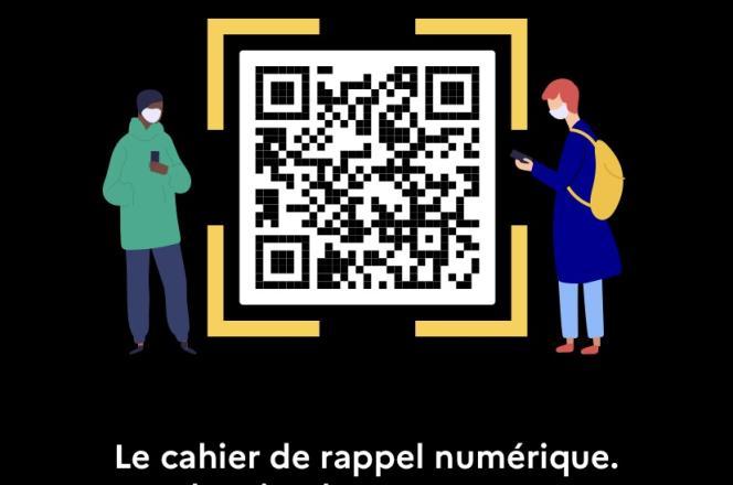 Aperçu du cahier de rappel numérique («Signal») dans l'application TousAntiCovid.
