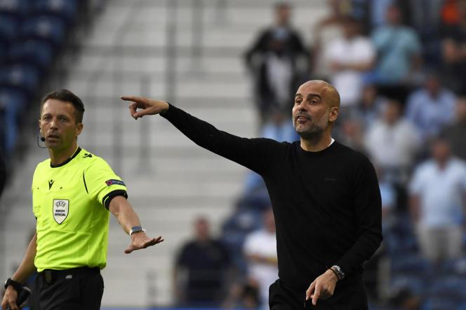 Pep Guardiola, lors de la finale de Ligue des champions, à Porto le 29 mai.