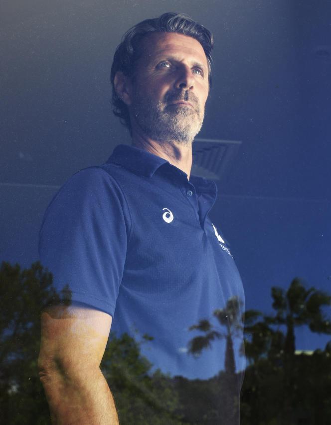Patrick Mouratoglou, entraîneur et coach de joueurs de tennis à la Mouratoglou Tennis Academy, le 5 mai 2021, à Biot (Alpes-Maritimes).