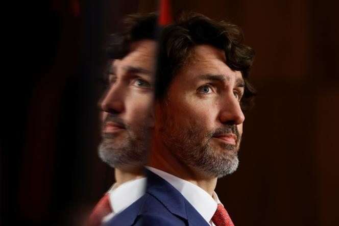 Prime Minister of Canada Justin Trudeau at a press conference in Ottawa on May 25, 2021.