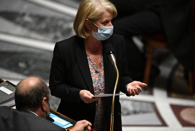 Brigitte Bourguignon, la ministre déléguée chargée de l'autonomie, à l'Assemblée nationale, le 4 mai2021.