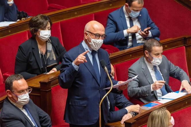 Le député LR Marc Le Fur fait partie de l'équipe des « serial-amendeurs » (ici, à l'Assemblée nationale, le 25 mai 2021).