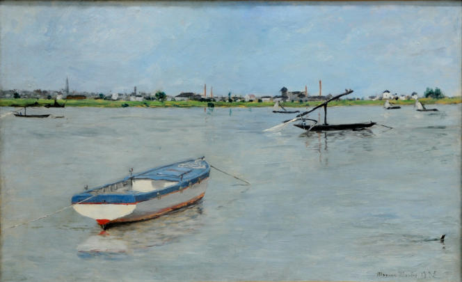 «Bateaux de pêche à la Haute-Ile» (1885), de Maxime Maufra (1861-1918). Huile sur toile.