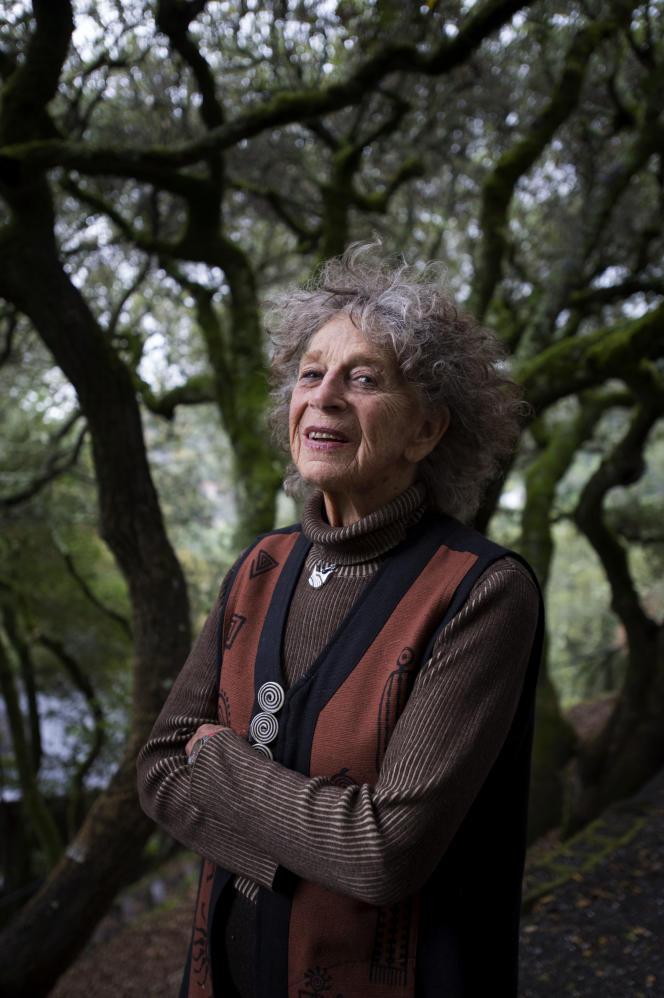 Anna Halprin à Kentfield (Californie), en novembre 2012, à 92 ans. Elle fait partie des fondateurs de l'avant-garde américaine de danse moderne.