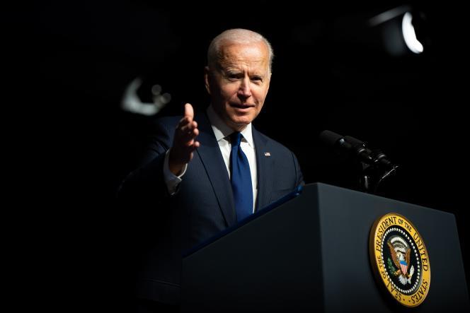 Le président des Etats-Unis, Joe Biden, s'exprime à l'occasion des cent ans du massacre d'Afro-Américains, à Tulsa (Oklahoma), en juin 2021.