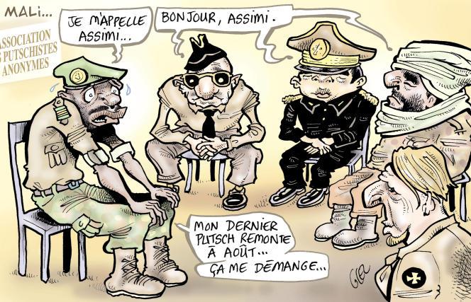 Dessin paru en « une » du « Monde » le 1er juin signé par le dessinateur burkinabé Glez.