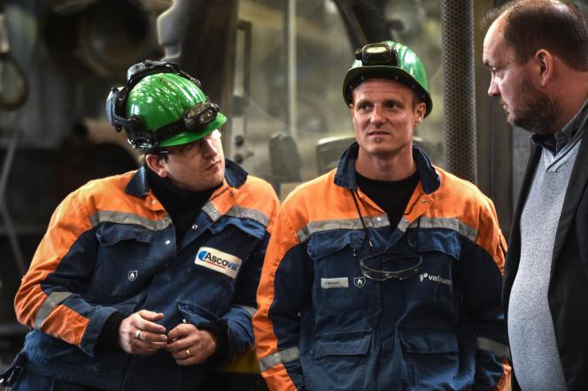 Dans l'usine deSaint-Saulve (Nord), en mai 2019.