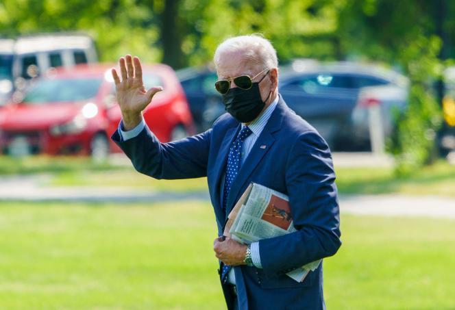 US President Joe Biden at the White House on June 2, 2021.