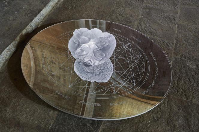 «Reflets de l'âme» (2019), d'Anne et Patrick Poirier, exposition«Anima mundi», à l'abbaye du Thoronet (Var).