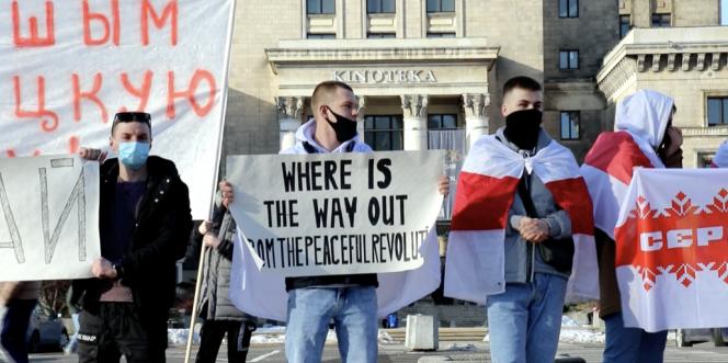 Manifestation à Minsk.